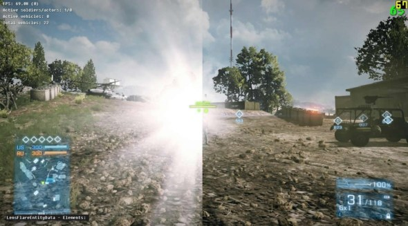 BF3 Tactical Light Nerf - side by side comparison