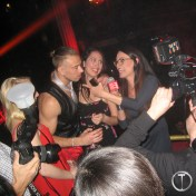 Cameras everywhere, and Sam Phillips for PenthouseTV working her magic with the crowd.