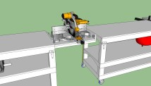 Rolling Miter Saw Table Plans