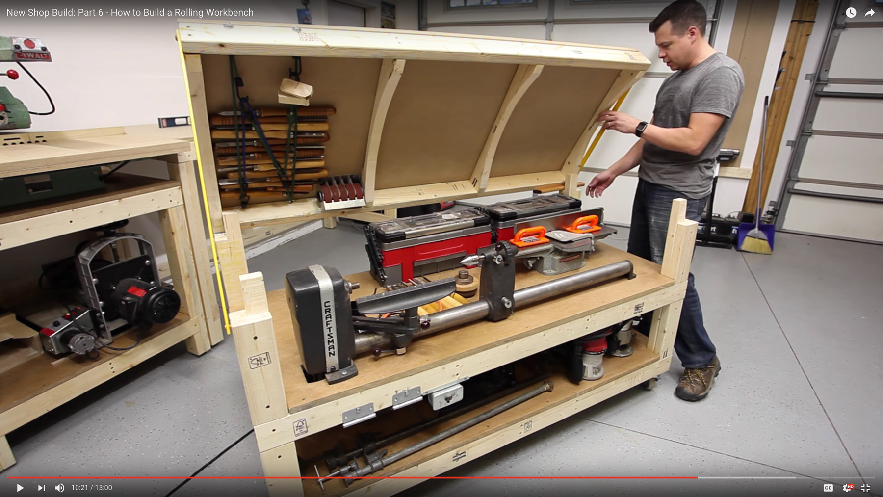 Workbench Plans Tommy S Rolling Workbench And Miter Saw