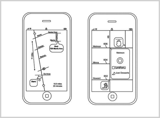 APPLE'S NEW PATENT APPLICATION FOR 'SCHEMATIC MAPS' APP