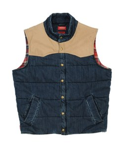 RM Williams Vest Longhorn Pelton in Indigo/Sand
