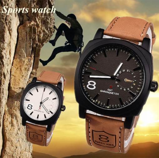 Military Style Watch Large Dial - Black or White
