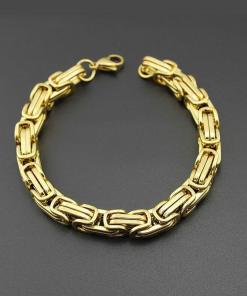 Chunky-style unisex chain bracelet in gold
