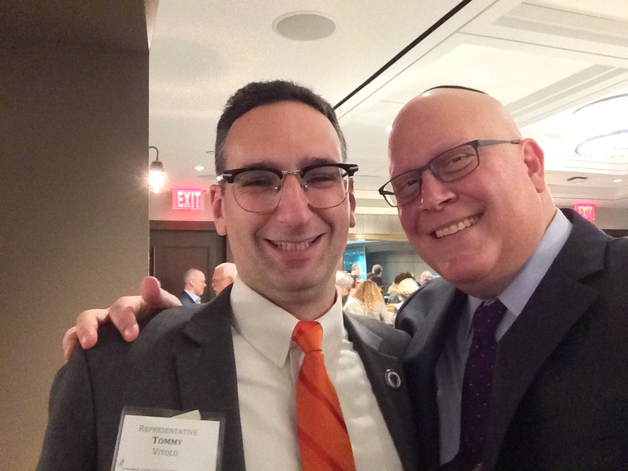 Tommy Vitolo and Jeremy Burton at a JCRC event