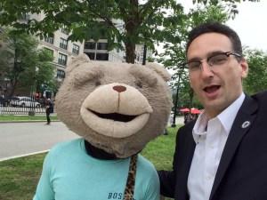 Tommy Vitolo and Keytar Bear