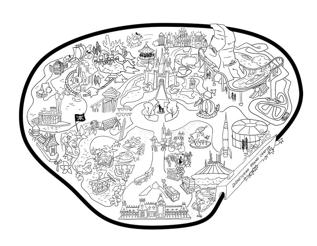 Tommy W Farley Disneyland Railroad Led Map