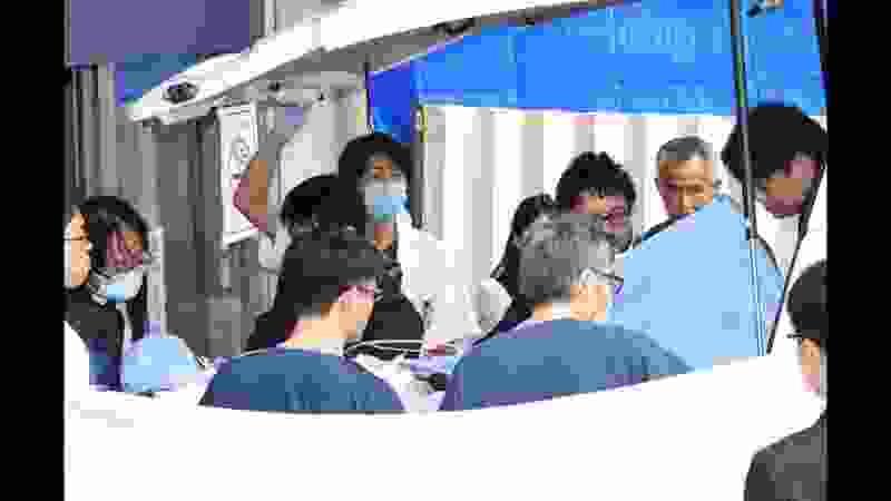 京アニ事件 青葉容疑者京都市内の病院へ到着
