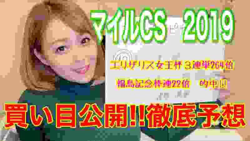 【マイルCS2019】難解だからこそ!穴から穴へ!!【エリ女福島記念的中!!】