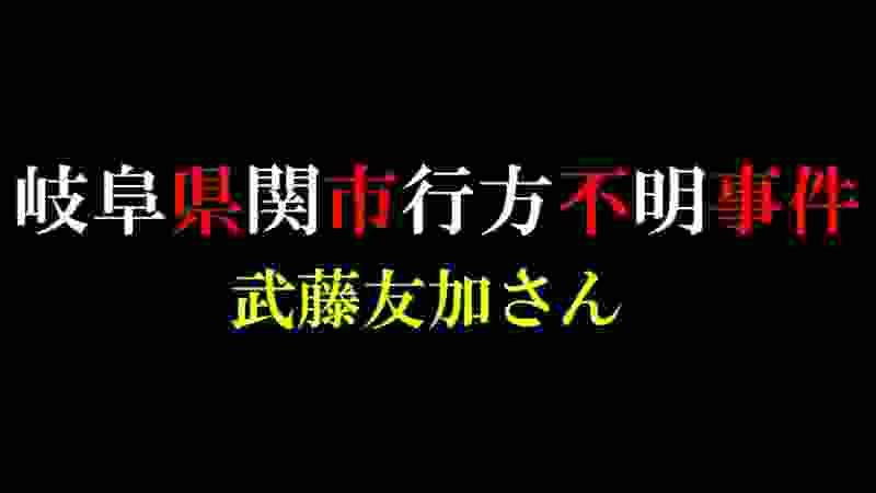 【未解決事件】岐阜県関市行方不明事件【武藤友加さん】