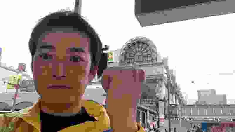 N国党 鹿児島市 天文館でNHK撃退シール配布中 最勝寺辰也 ライブ