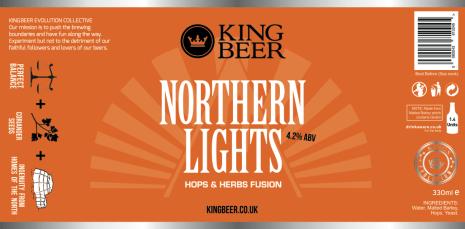 KingBeer Northern Lights label