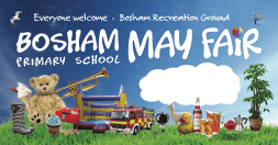 School fair banner with space for editing date each year