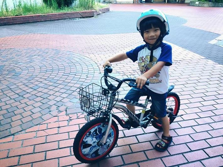 おやこじてんしゃプロジェクト 自転車に乗る子ども