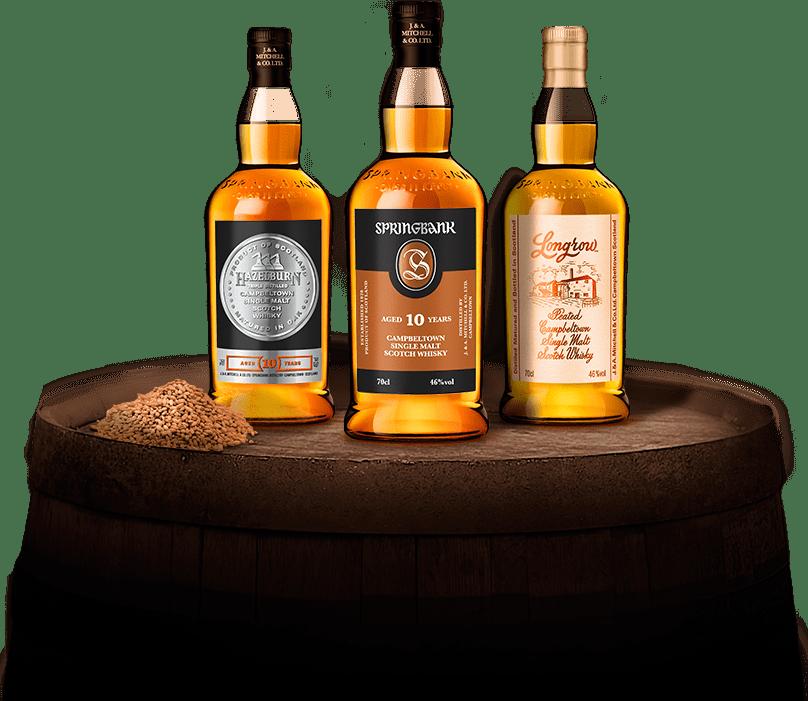 springbank, longrow, hazelburn, whisky, campeltown