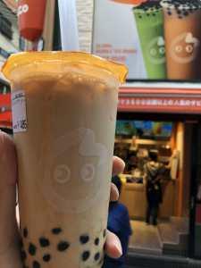 梅田のCoCo都可でタピオカミルクティーを飲んだ感想、固めであまり好きではなかった