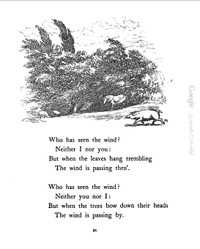 Who Has Seen the Wind? by Christina Rossetti クリスティーナ・ロセッティ