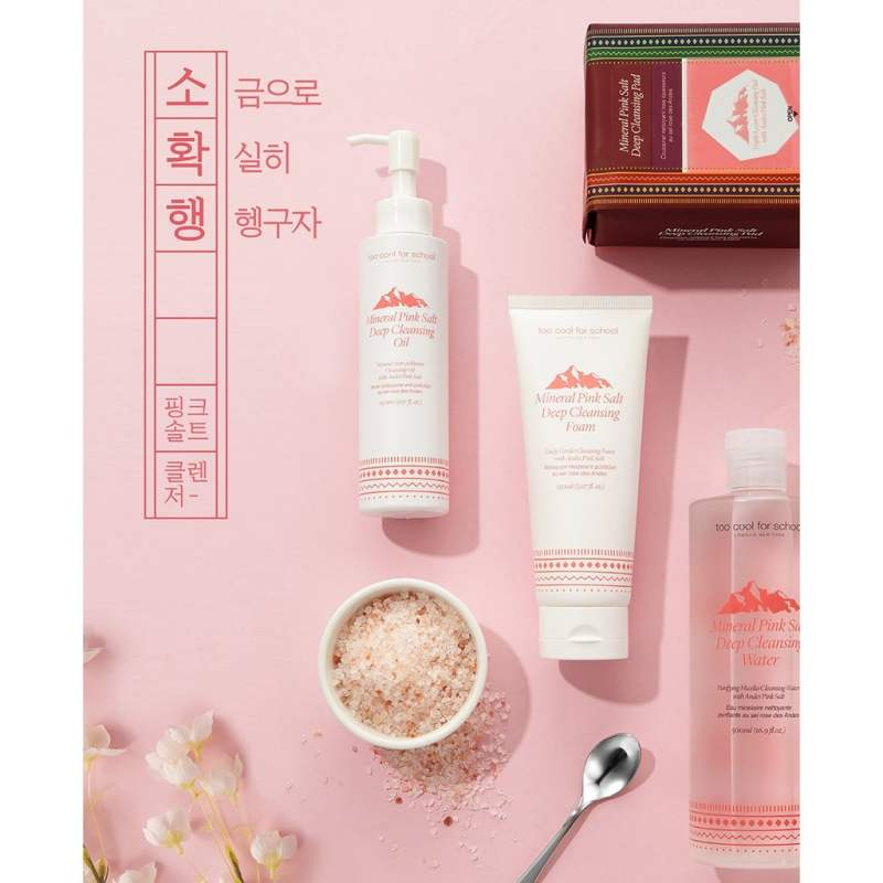 Mineral Pink Salt Deep Cleansing Oil too cool for school