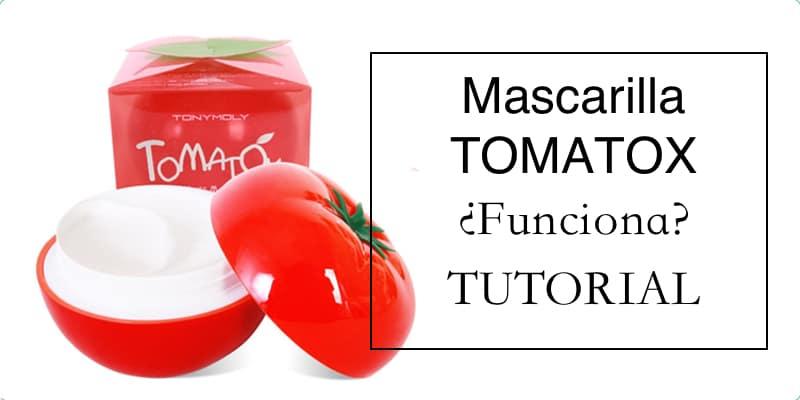 mascarilla tomatox coreana modo de uso