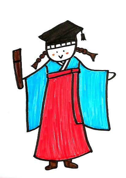 卒業式 袴イラスト