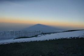山頂近くの氷原