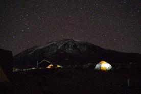 キャンプから見た頂上