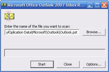 Scanpst exe locations for Outlook pst repair | © Tom Pai