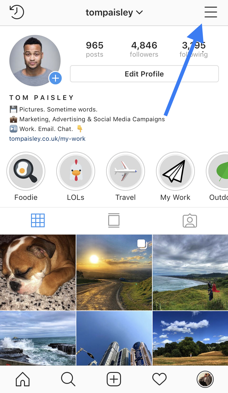 Profile: How to get verified on Instagram. Tom Paisley on Instagram.