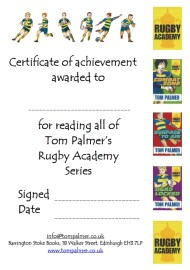 rugby certificate