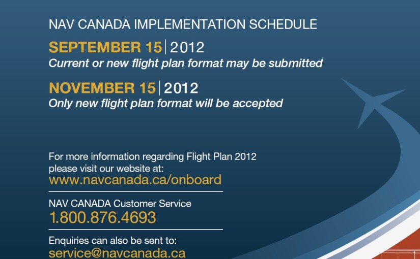 NAV CANADA To Implement New Flight Plan Format