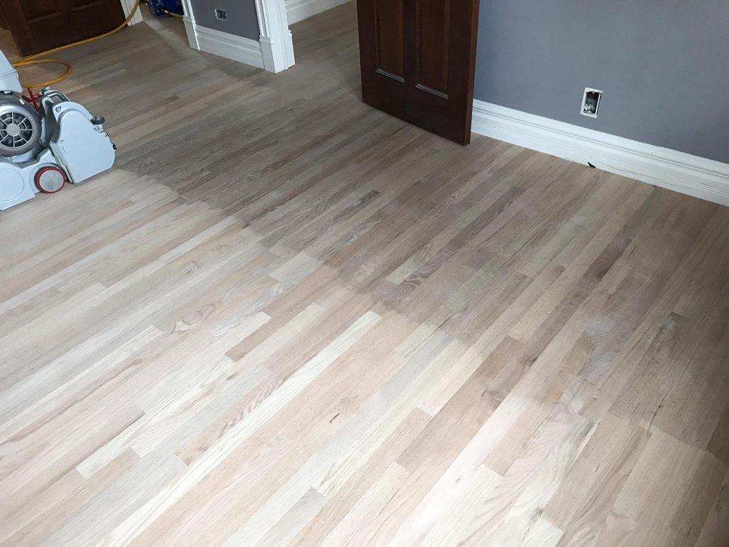 Hinsdale Installation New Hardwood Floor 2 14 Red Oak and Refinishing Existing Wood Floor