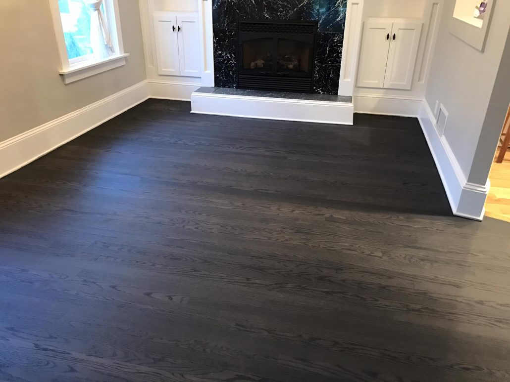 Hinsdale Floor color change from natural to gray  Tom  Peter Flooring  Hardwood Floor