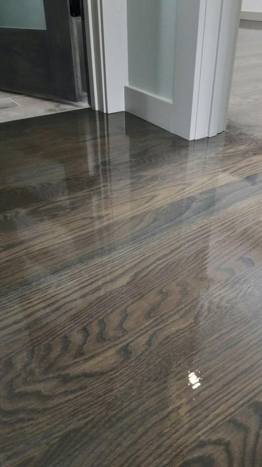 Brown and Gray Floor Stain by Bona  Chicago  Tom  Peter