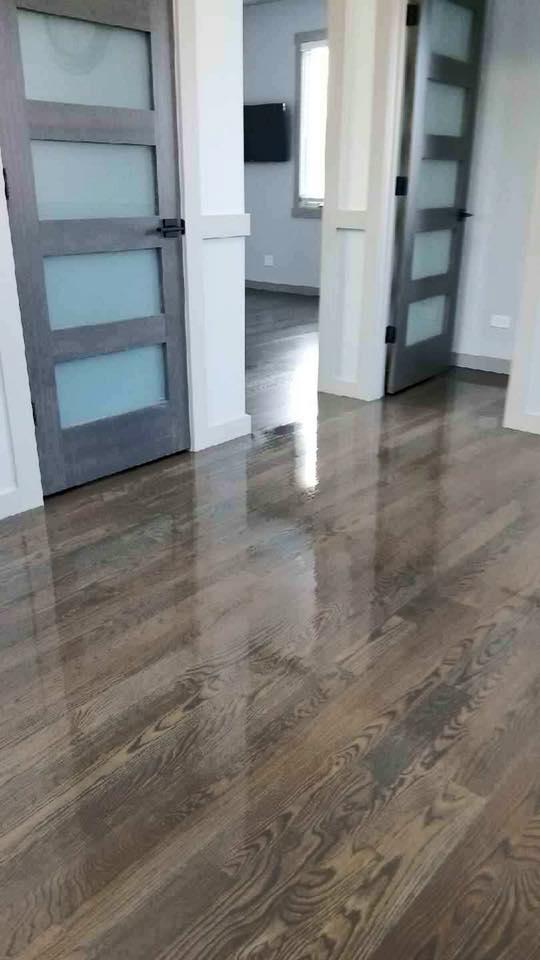 Brown and Gray Floor Stain by Bona  Chicago  Tom  Peter Flooring  Hardwood Floor Refinishing