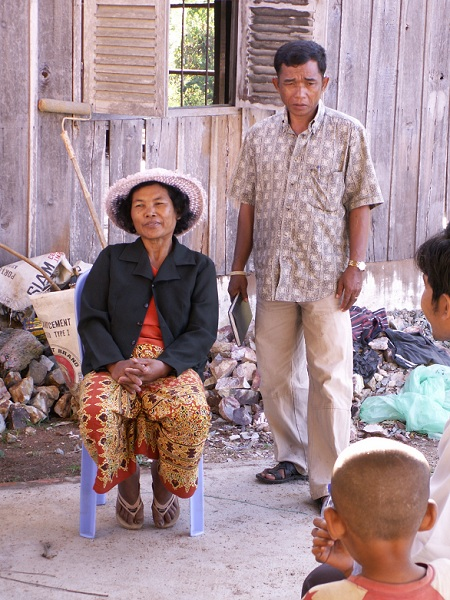 Pastor & Wife Today: She taught 4th Grade, The Max Grade allowed by Pol Pot.  He fought on Lon Nol's side.  Now they live in Christ.