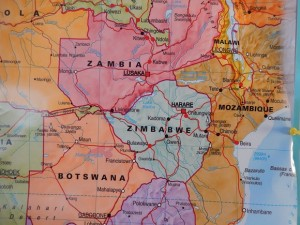 Note the Way from Lilongwe, Malawi to Tete, Mozambique