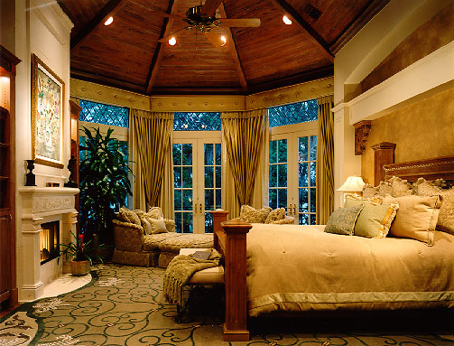 Tom Price Architect...French Eclectic Mansion...Master Bedroom