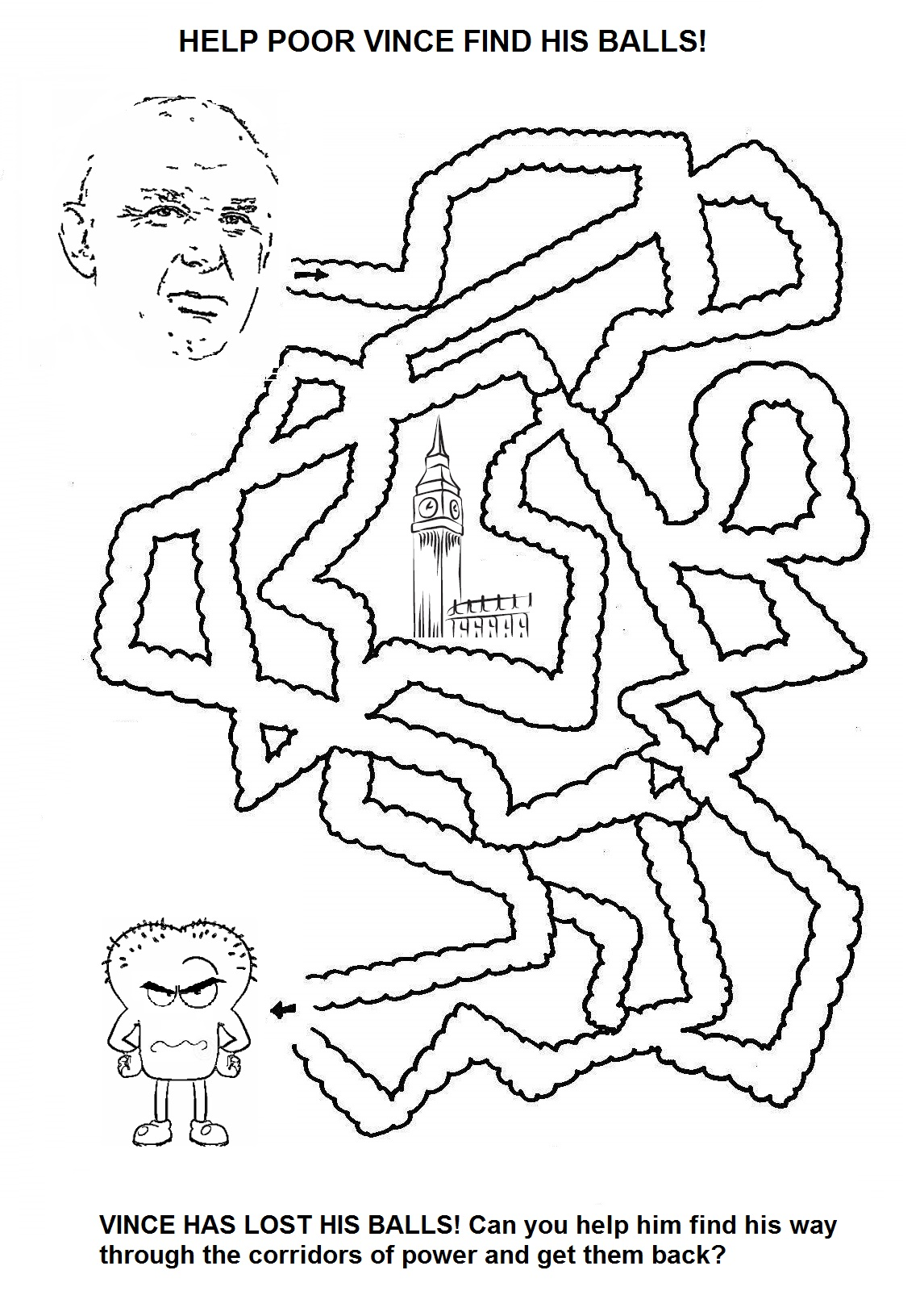 The Coalition Government Colouring and Activity Book is