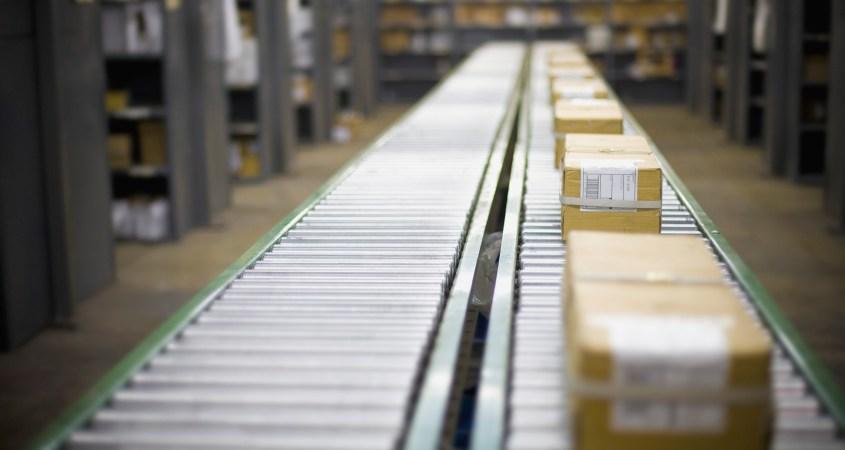 Packages on Conveyor Belt