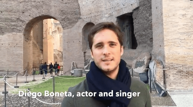 Film, TV and music star Diego Boneta says this about Tom's Rome Walks