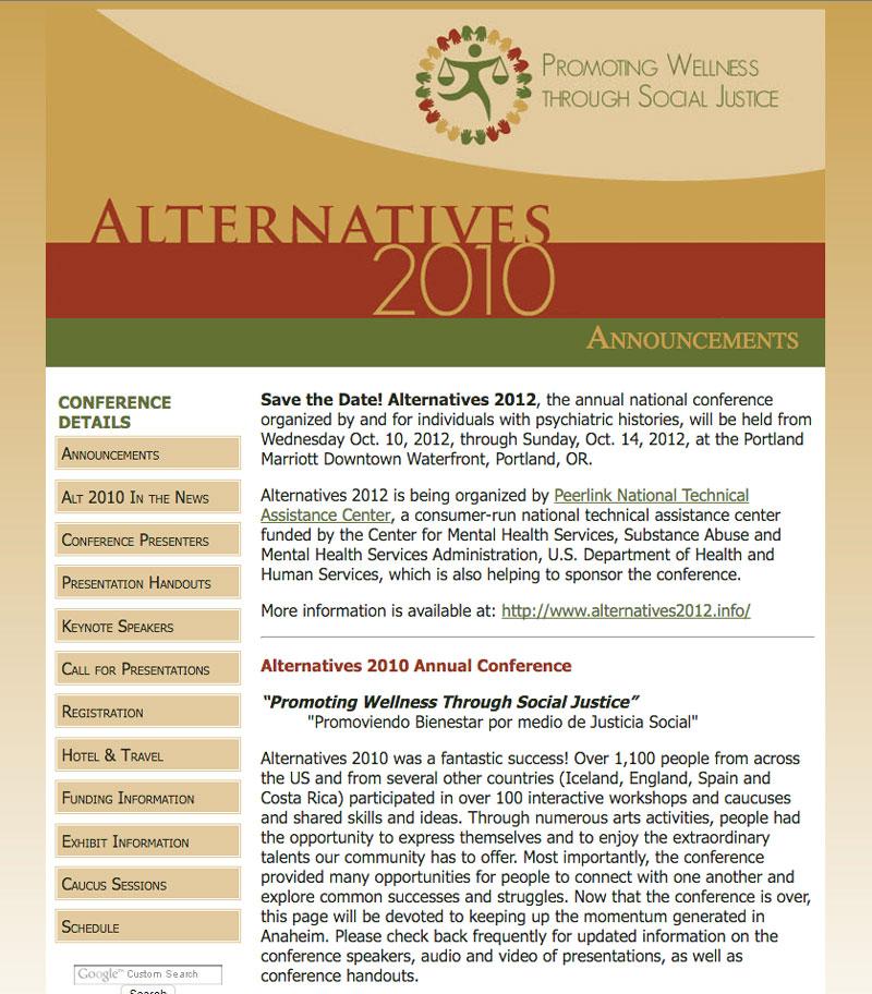 Alternatives 2010