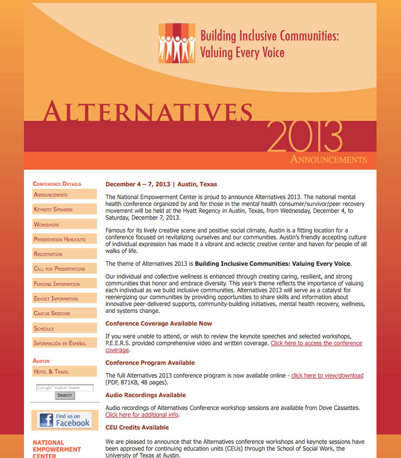 Alternatives 2013