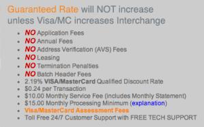 Merchant Focus Rates