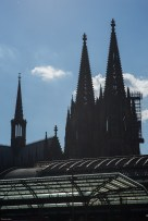 Cologne Cathedral, view from behind the main station.