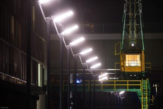 Old crane at Rheinauhafen, Cologne.