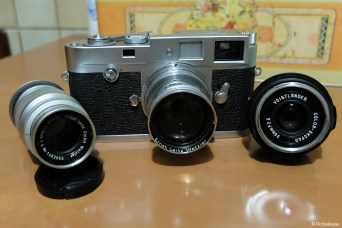 Leica M2 with 35/2.5 + 50/2 + 90/4.