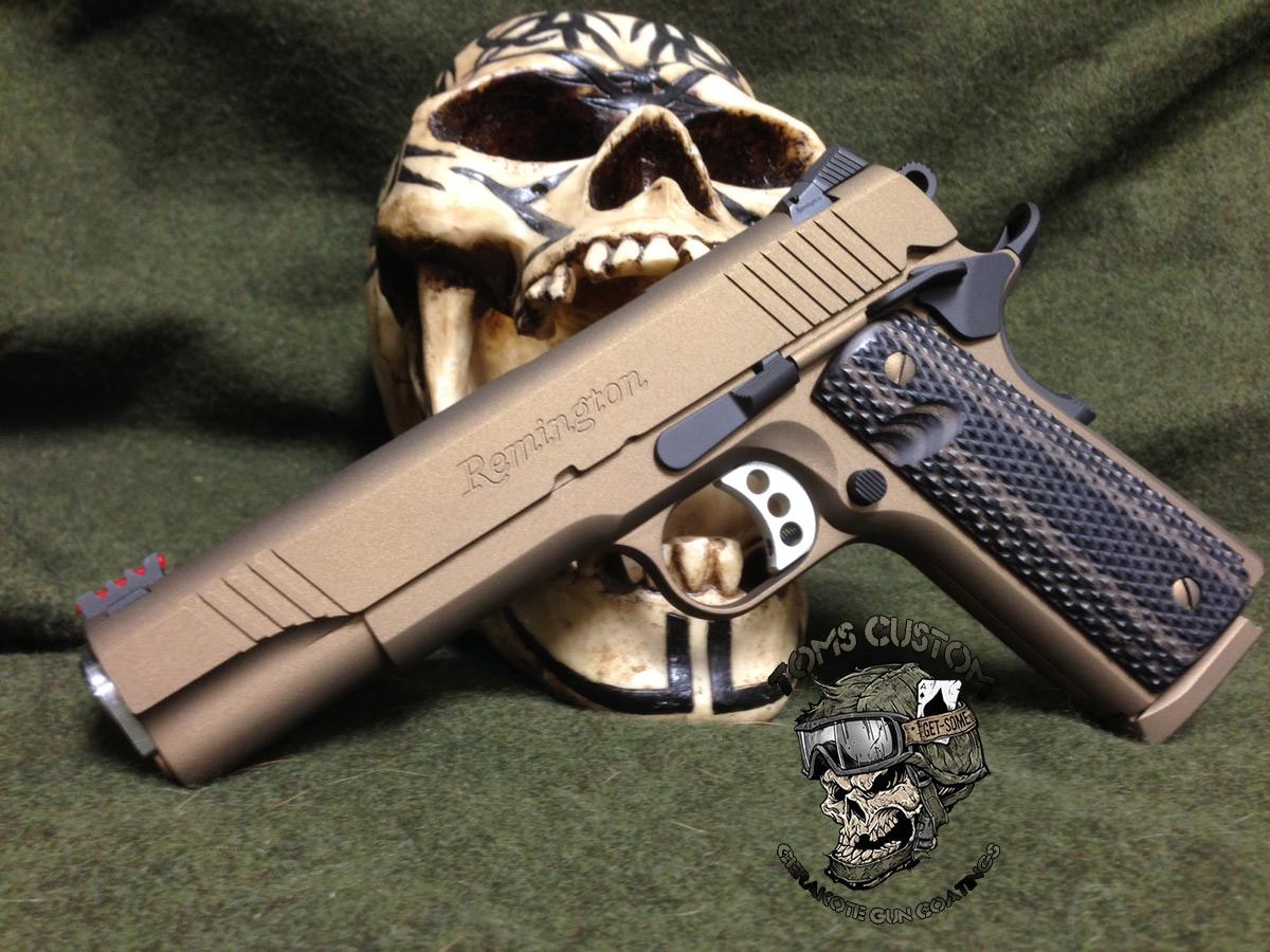 Remington 1911 R1 In Burnt Bronze And Armor Black