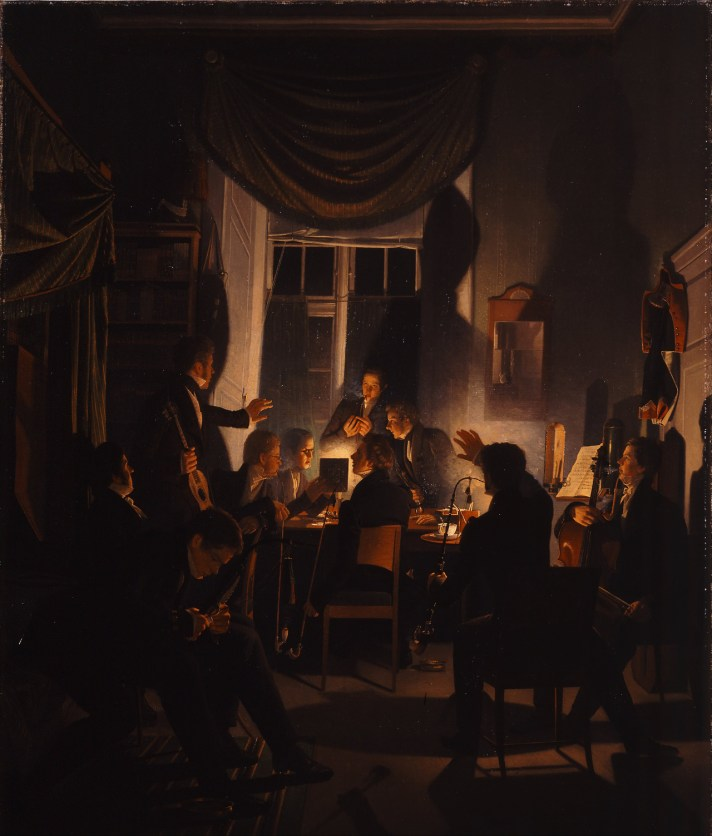A Smoking Party (1828) - Wilhelm Bendz