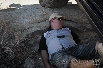 Ok, I'm sacked-out taking a nap under my Jeep in the shade