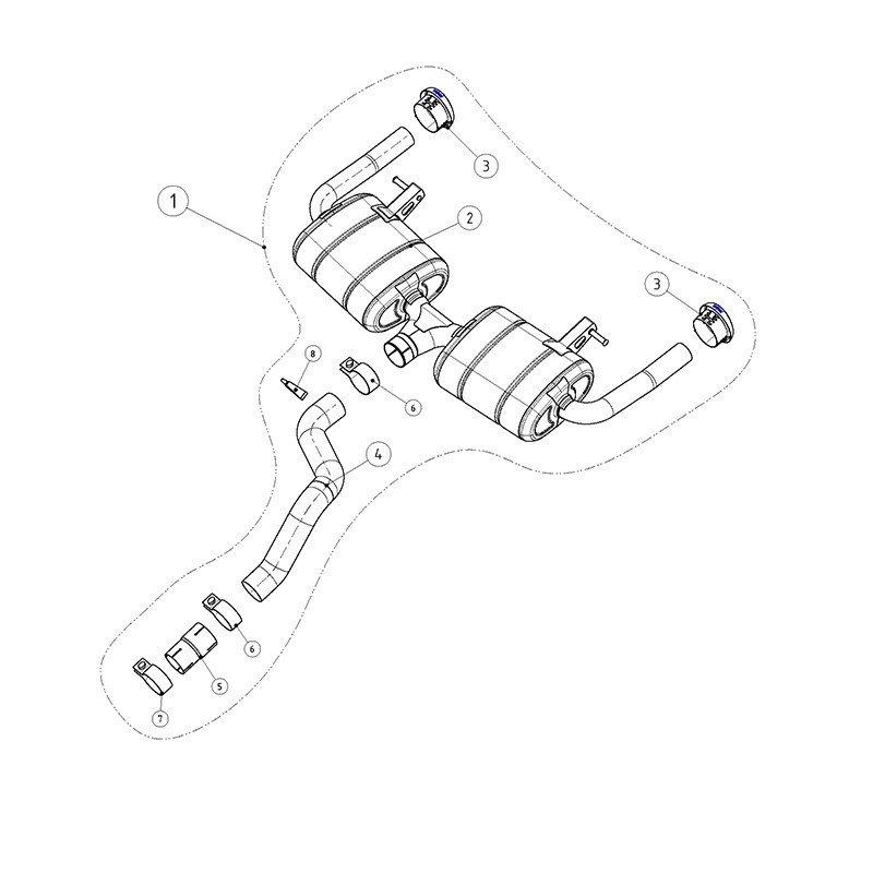 Akrapovic Slip-On MTP-RECL3RSH exhaust system Renault Clio
